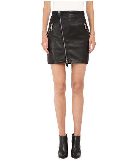 DSQUARED2 - Lelya Leather Mini Skirt (Black) Women's Skirt