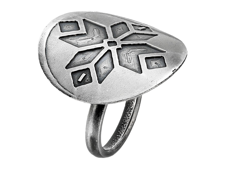 Gypsy SOULE - Circular Stamped Gypsy Pattern Ring (Antiqued Silver) Ring