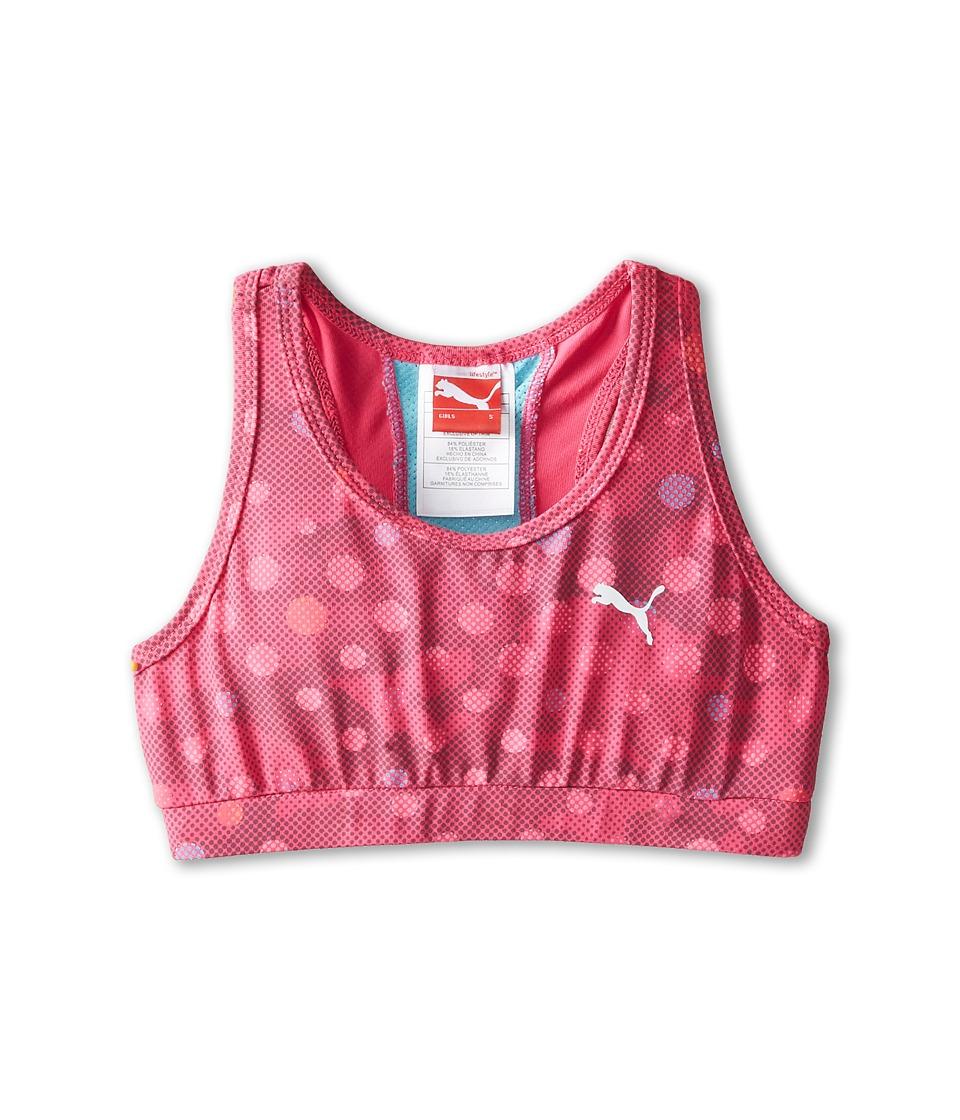 Puma Kids - Sports Bra (Big Kids) (Pink Glo) Girl's Bra