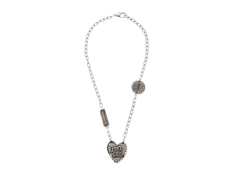 Gypsy SOULE - Rebel Soule Heart Pendant Necklace (Silver) Necklace