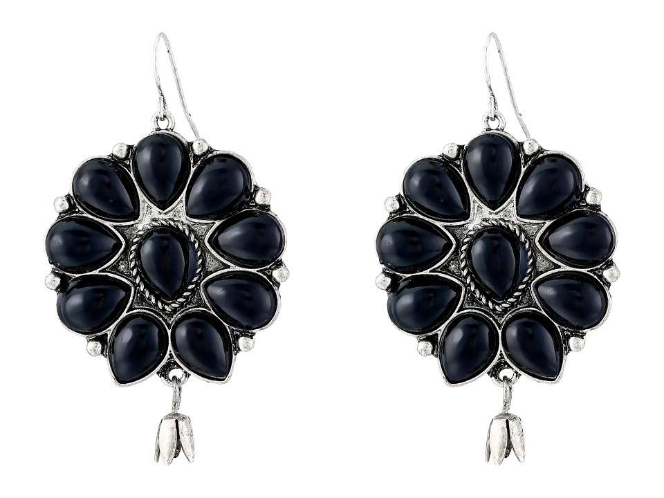 Gypsy SOULE - Squash Blossom Bud Drop Earrings (Black) Earring