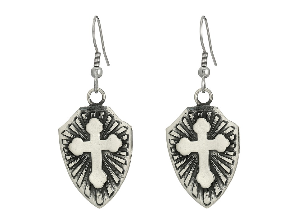 Gypsy SOULE - Cross Shield Earrings (Silver) Earring