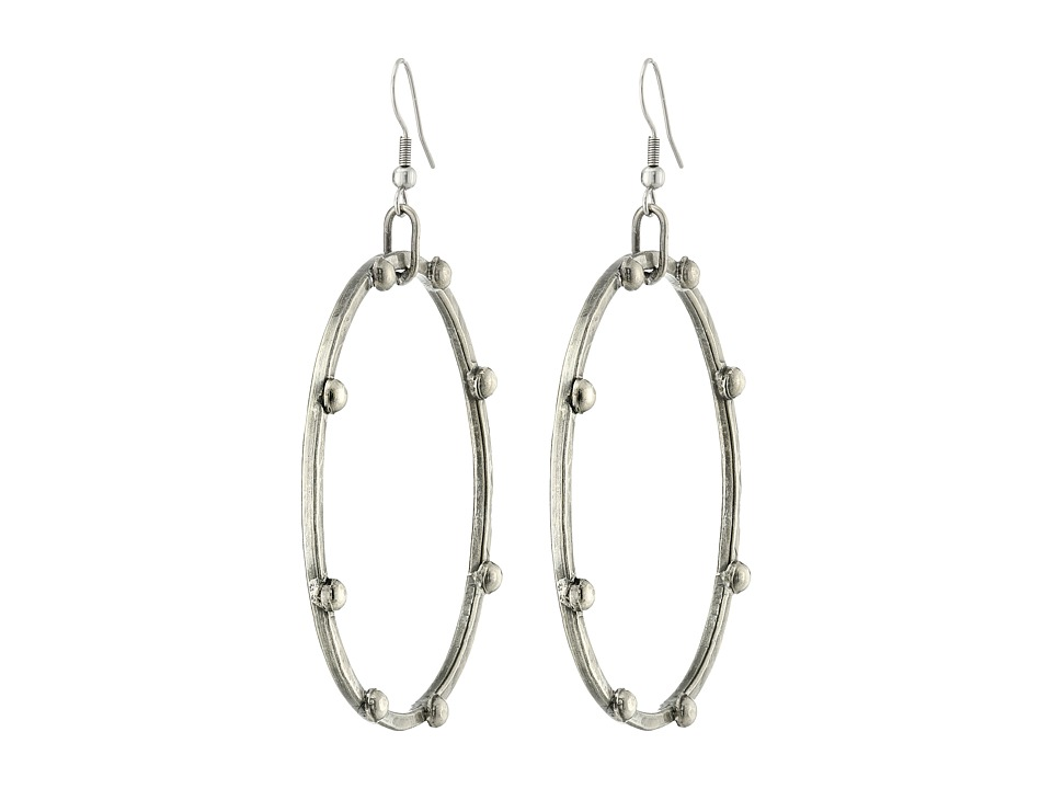 Gypsy SOULE - Antique Silver Hoops w/ Ball Studs Earrings (Silver) Earring