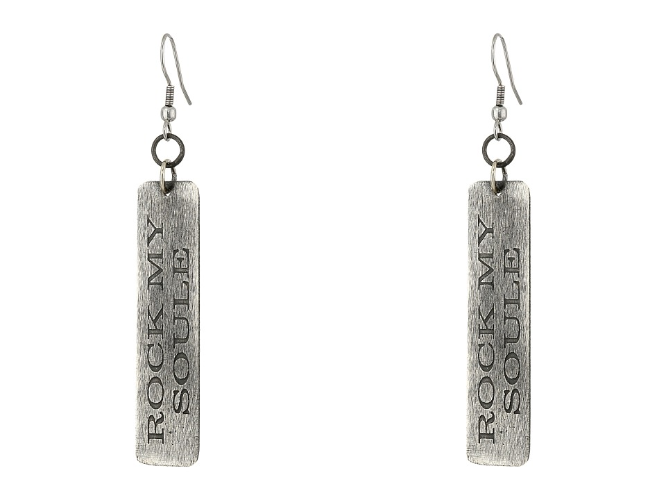 Gypsy SOULE - Rock My Soule Cross Drop Earrings (Silver) Earring