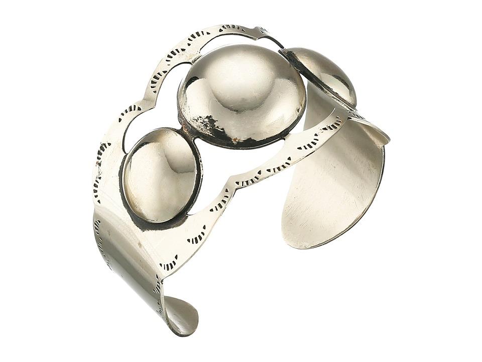 Gypsy SOULE - Large Stud Metal Cuff Bracelet (Silver) Bracelet