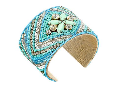 Gypsy SOULE - Stone Beaded Statement Cuff Bracelet (Turquoise) Bracelet