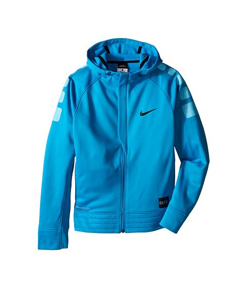 Nike Kids - Elite Stripe Hoodie (Little Kids/Big Kids) (Tidal Blue/Tide Pool Blue/Black/Black) Boy's Sweatshirt