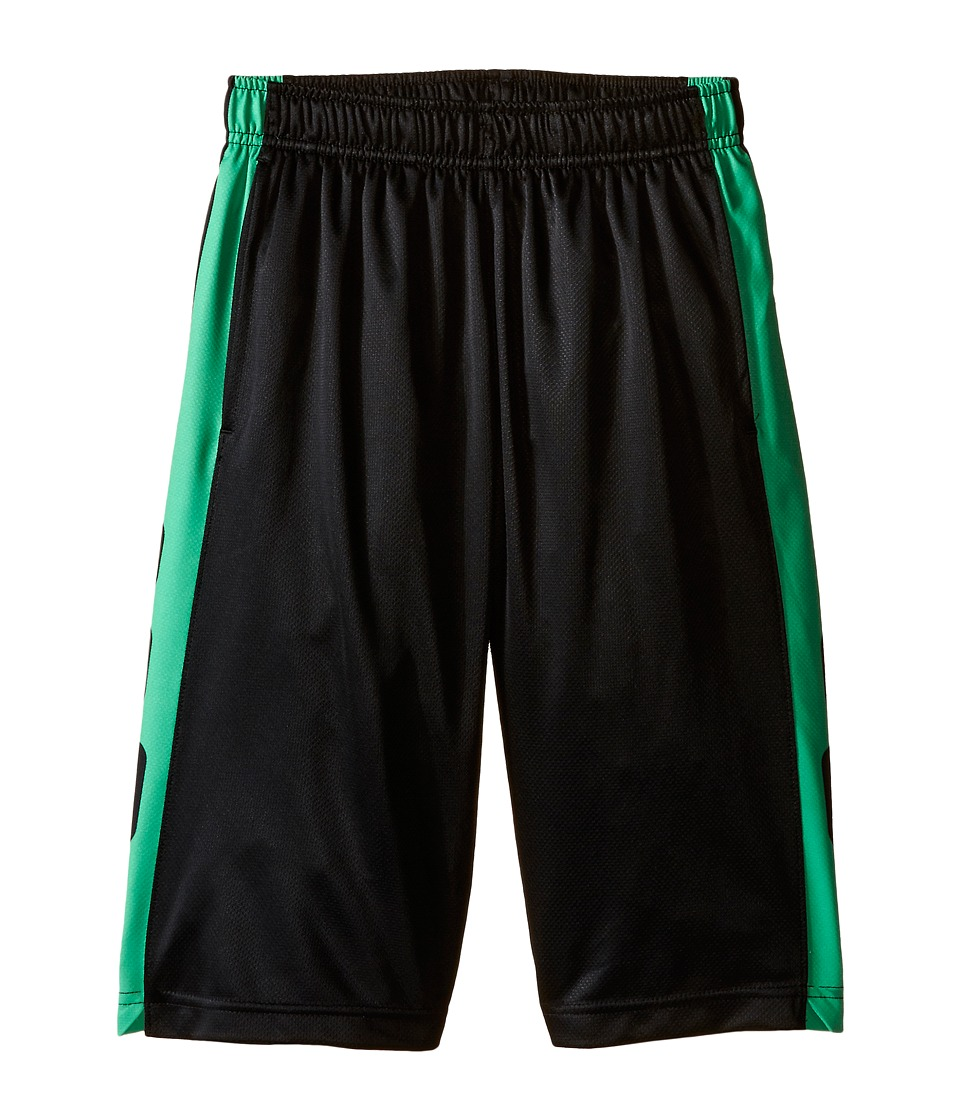 Nike Kids - Elite Stripe Short (Little Kids/Big Kids) (Black/Gamma Green/Metallic Silver) Boy's Workout