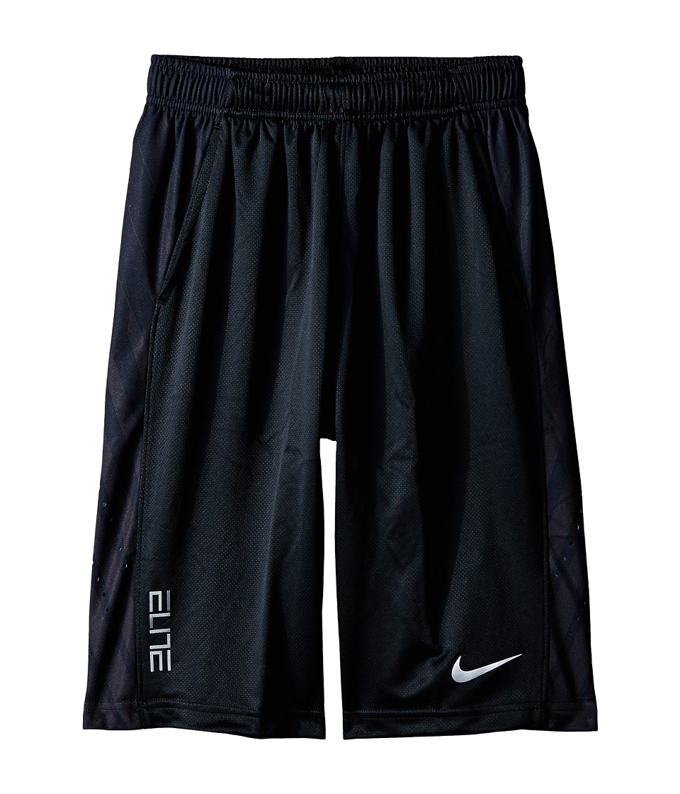 Nike Kids - Elite Powerup Shorts (Little Kids/Big Kids) (Black/Black/Anthracite/Metallic Silver) Boy's Shorts