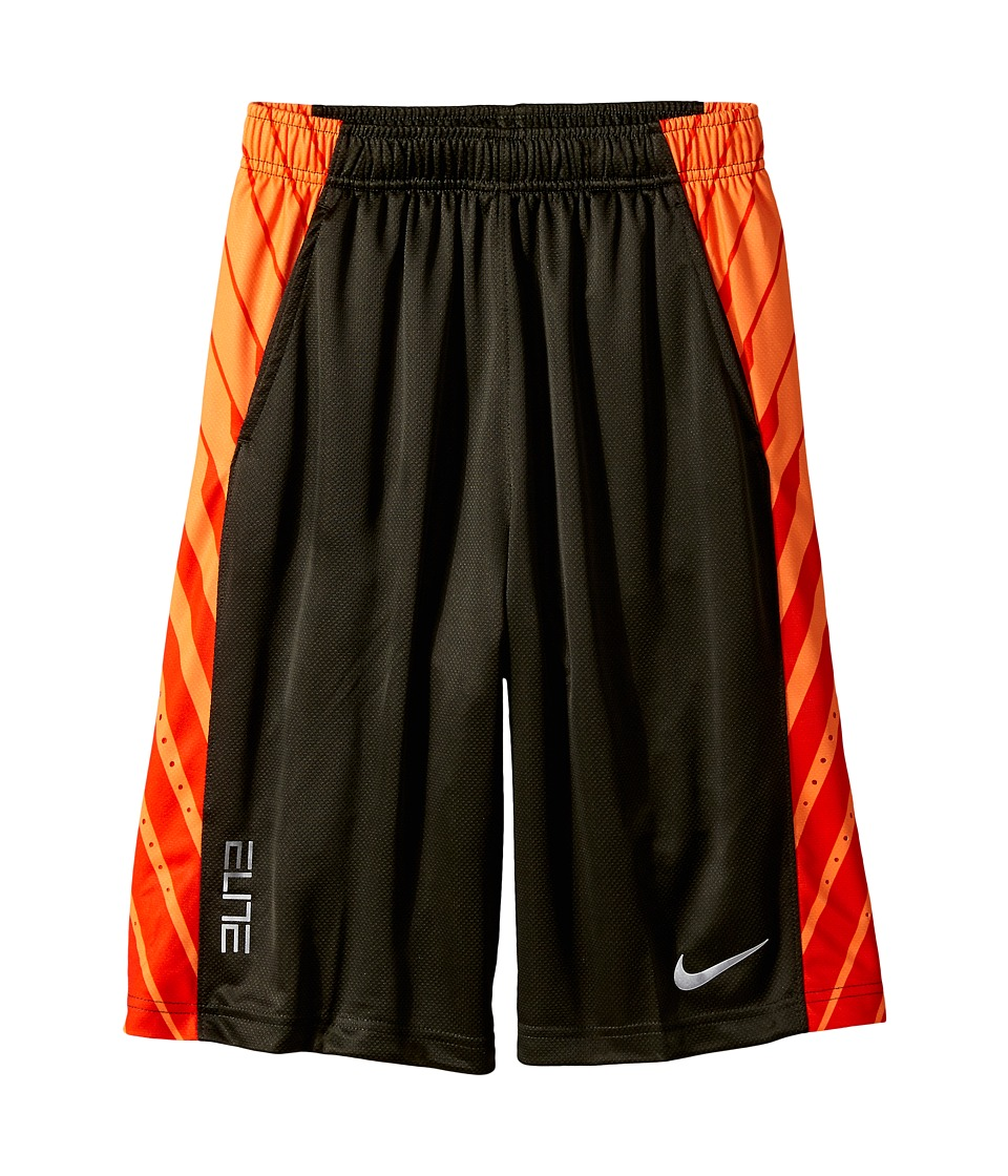 Nike Kids - Elite Powerup Shorts (Little Kids/Big Kids) (Sequoia/Sequoia/Metallic Silver) Boy's Shorts