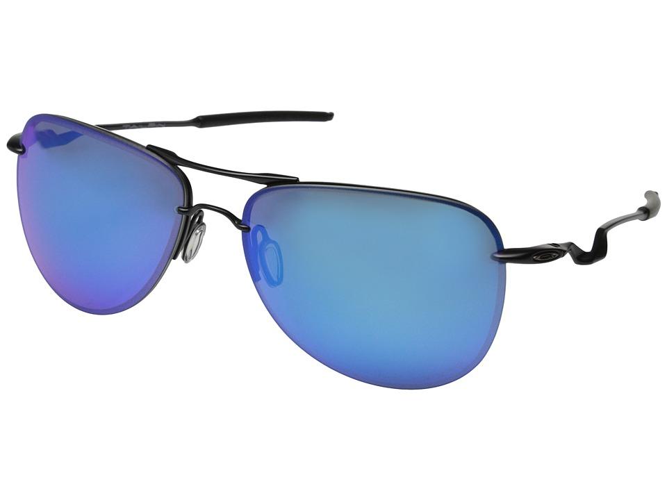 Oakley - Tailpin Lead (Satin Black w/Sapphire Iridium Polarized) Sport Sunglasses