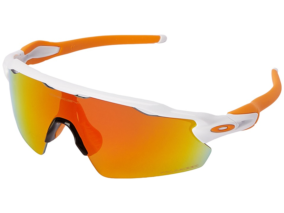 Oakley - Radar EV (Polished White w/Fire Iridium Polarized) Sport Sunglasses