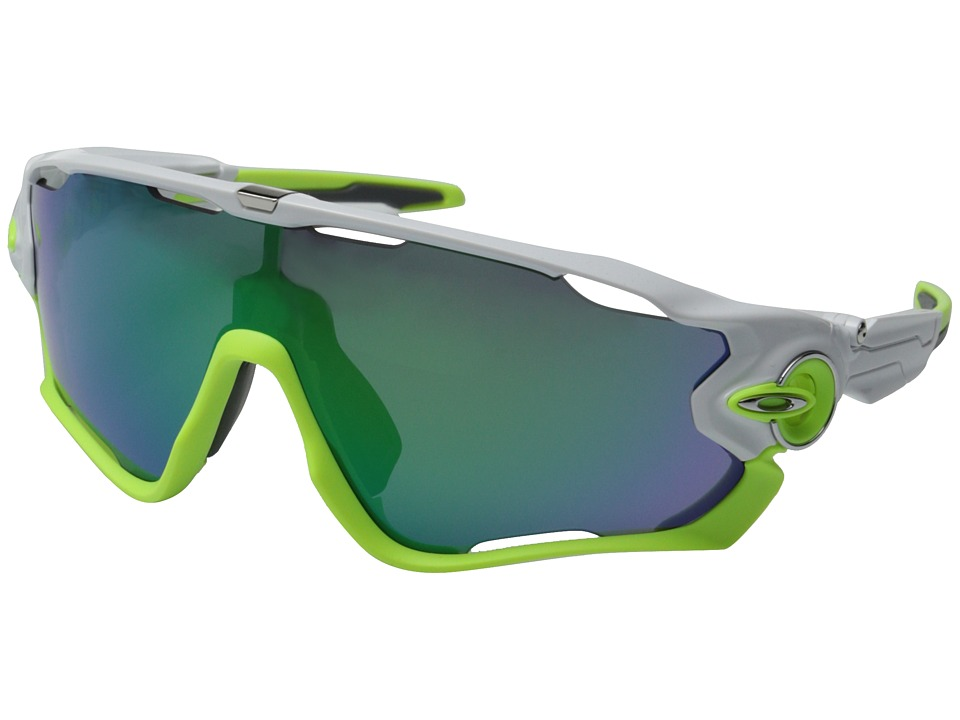 Oakley - Jawbreaker (Polished White w/Jade Iridium) Sport Sunglasses