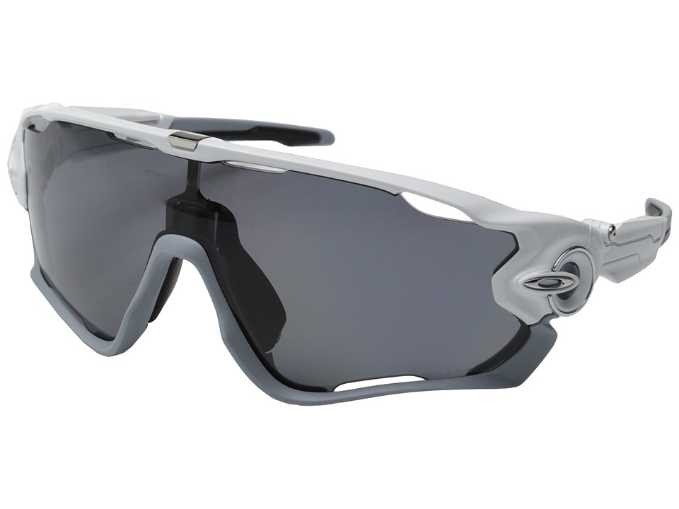 Oakley - Jawbreaker (Polished White w/Grey Polarized) Sport Sunglasses