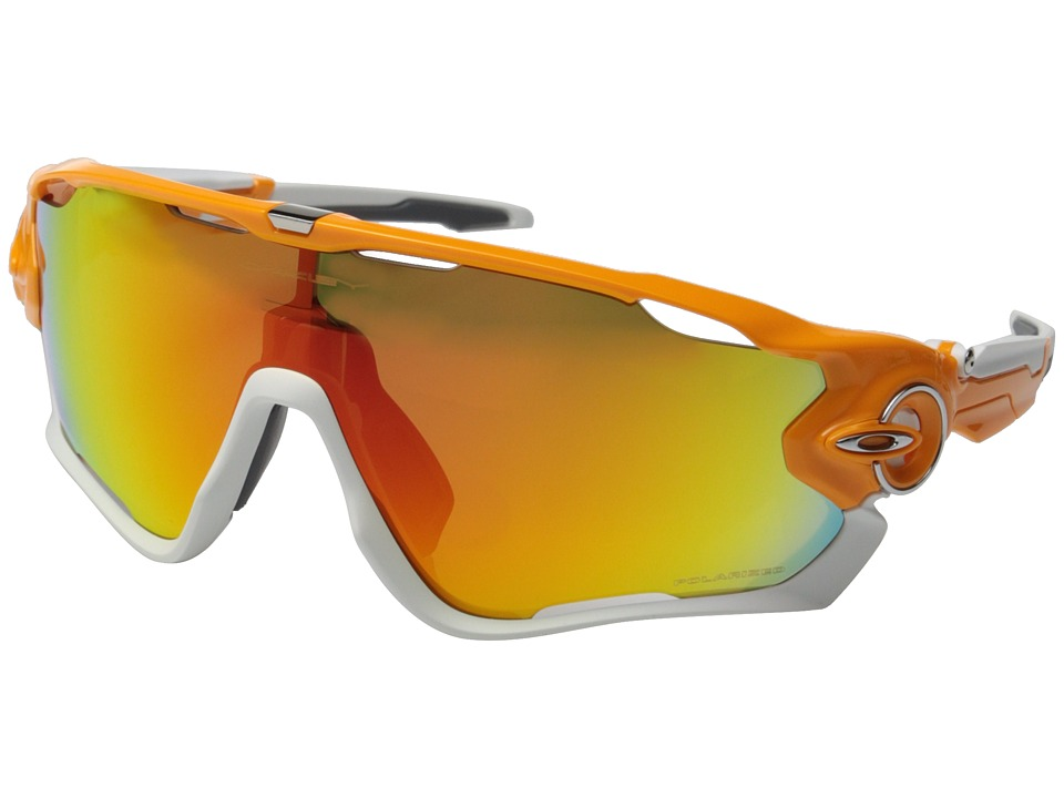 Oakley - Jawbreaker (Atomic Orange w/Fire Iridium Polarized) Sport Sunglasses