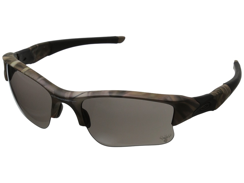 Oakley - Flak Jacket XLJ (Woodland Camouflage w/Warm Grey) Sport Sunglasses