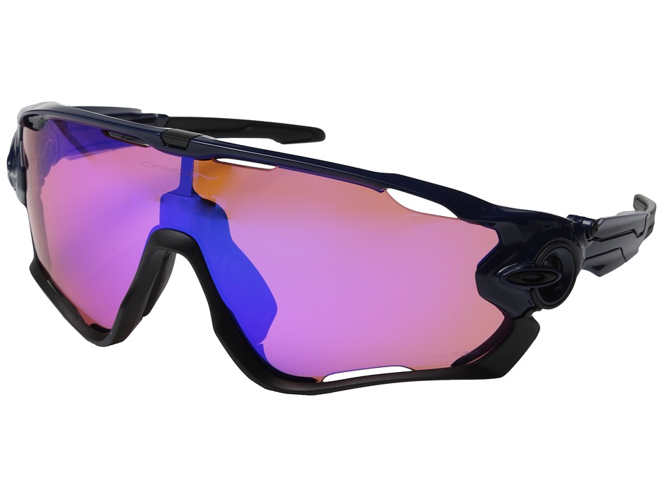 Oakley - Jawbreaker (Polished Navy w/Prizm Trail) Sport Sunglasses