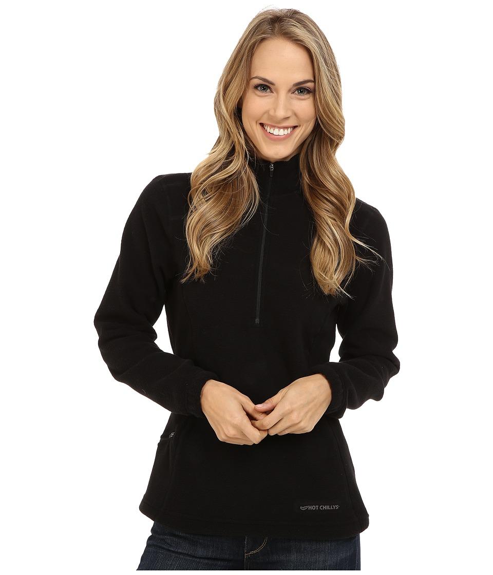 Hot Chillys - Baja Pocket Zip-T (Black) Women's T Shirt
