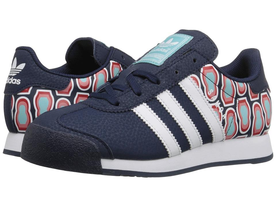 adidas Originals Kids - Samoa C (Little Kid) (Collegiate Navy/White/Blue Spirit) Kids Shoes