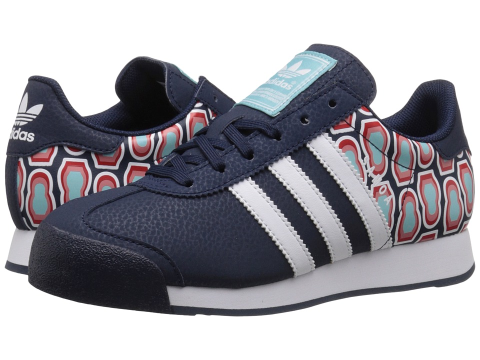 adidas Originals Kids - Samoa J (Big Kid) (Collegiate Navy/White/Blue Spirit) Kids Shoes