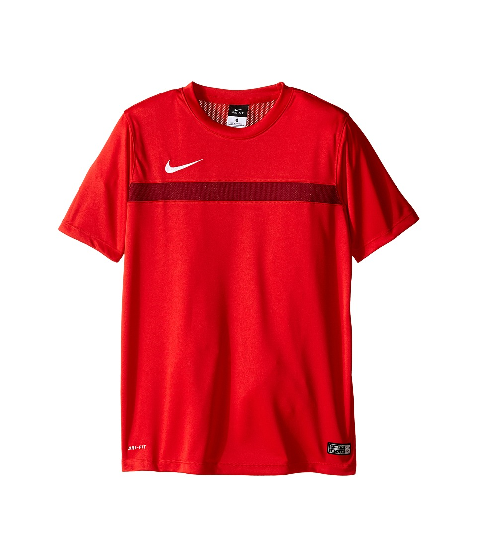 Nike Kids - Dry Academy Short Sleeve Training Shirt (Little Kids/Big Kids) (University Red/Team Red/White) Boy's Short Sleeve Pullover
