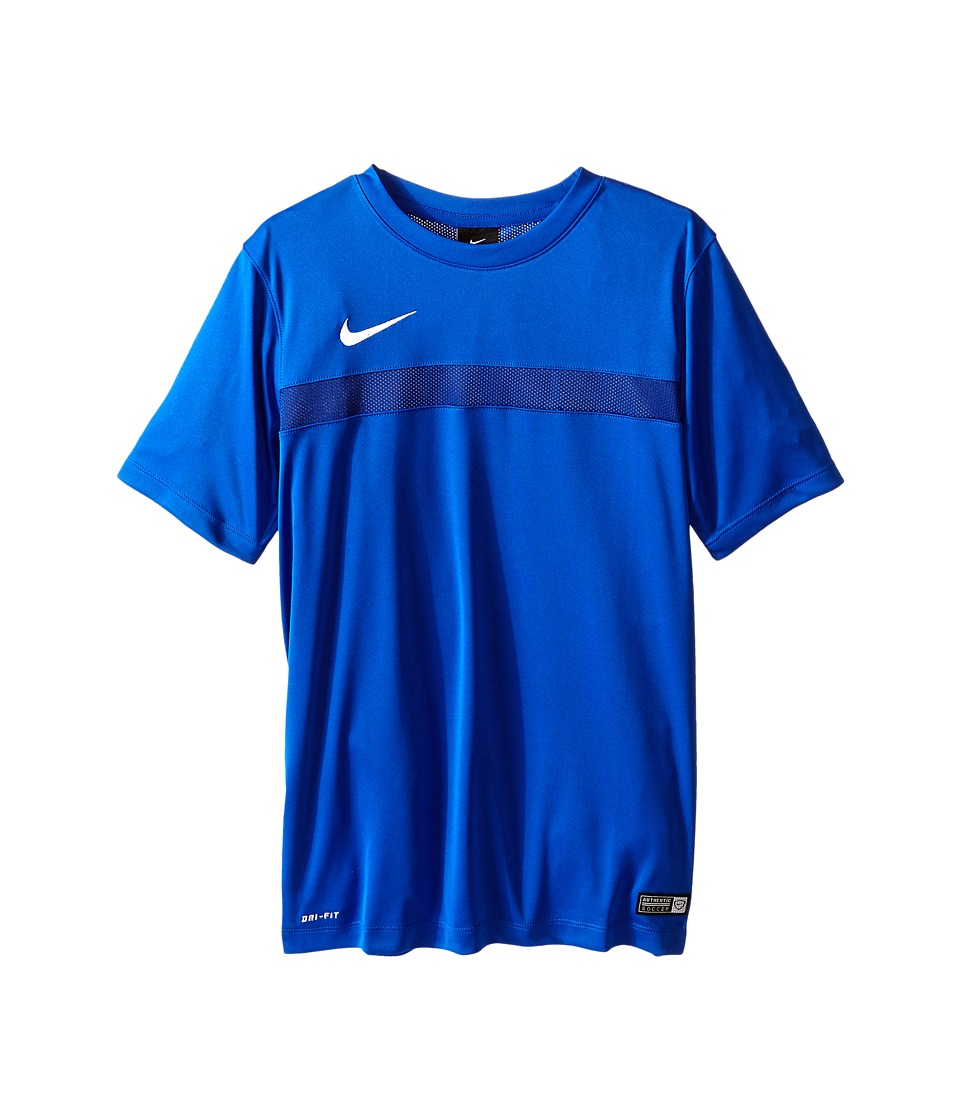 Nike Kids - Dry Academy Short Sleeve Training Shirt (Little Kids/Big Kids) (Game Royal/Deep Royal Blue/White) Boy's Short Sleeve Pullover