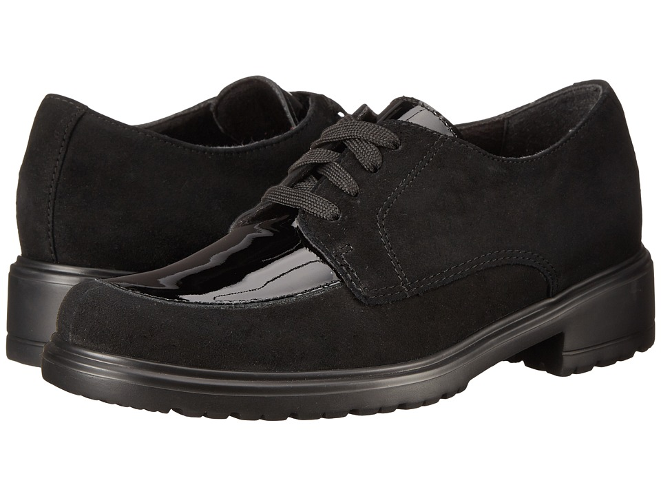 Munro - Veranda (Black Suede/Patent) Women's Lace up casual Shoes