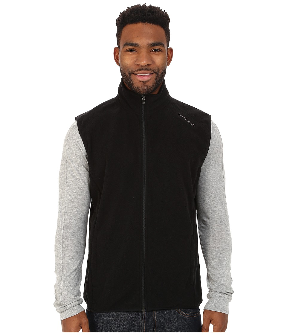 Hot Chillys - Baja Zip Vest w/ Binding (Black) Men's Vest