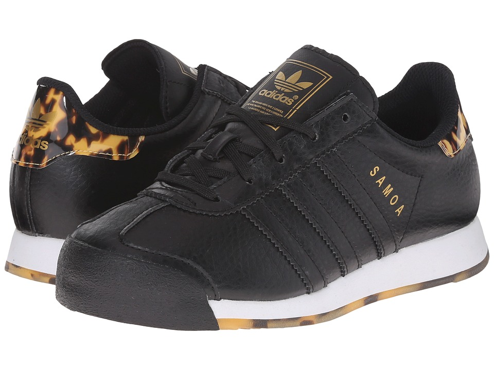 adidas Originals Kids - Samoa C - Tortoise Shell (Little Kid) (Black/Black/Gold Metallic) Kids Shoes