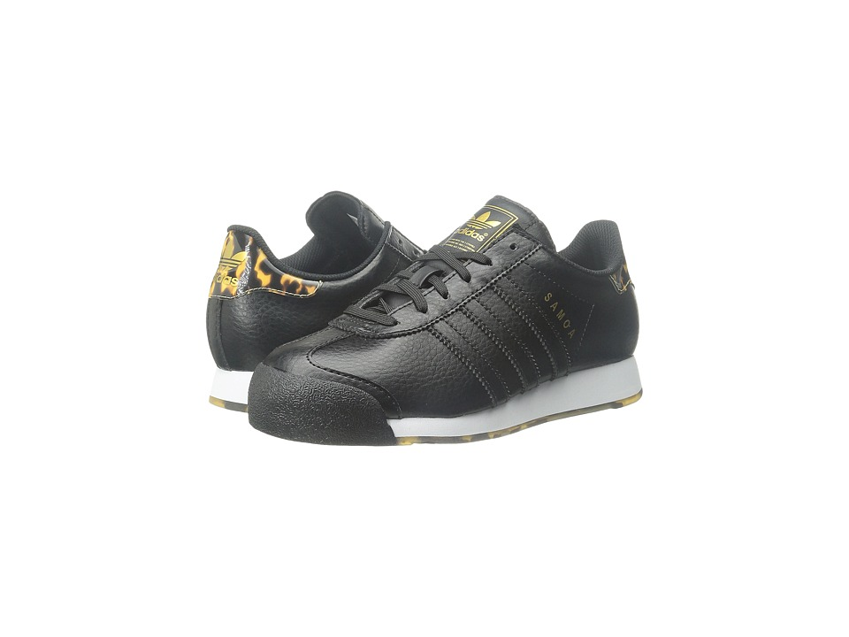 adidas Originals Kids - Samoa J - Tortoise Shell (Big Kid) (Black/Black/Gold Metallic) Kids Shoes