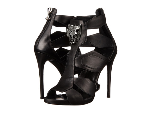 Philipp Plein - High Heels Bat (Black) Women's Toe Open Shoes