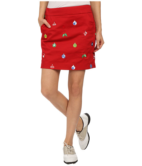 Loudmouth Golf - Deck the Halls Skort (Christmas Red) Women