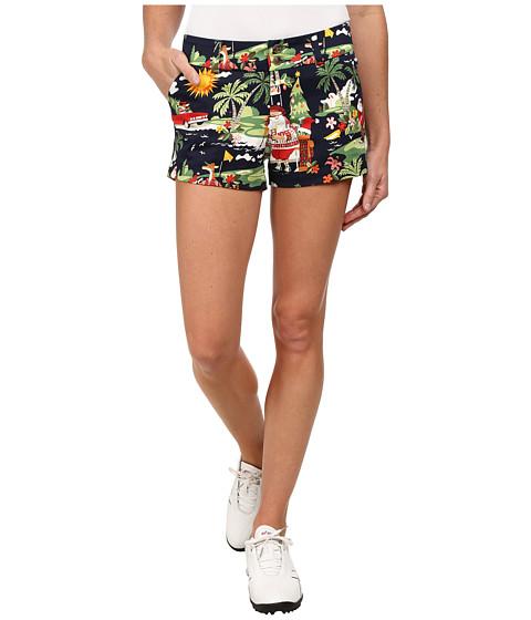 Loudmouth Golf - Golfin Santa Mini Shorts (Navy) Women's Shorts