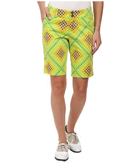 Loudmouth Golf - Dot Matrix Shorts (Jasmine Green) Women's Shorts
