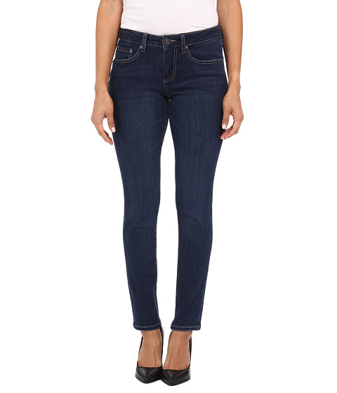 Jag Jeans Petite - Petite Grant Mid Rise Slim in Blue Shadow (Blue Shadow) Women's Jeans