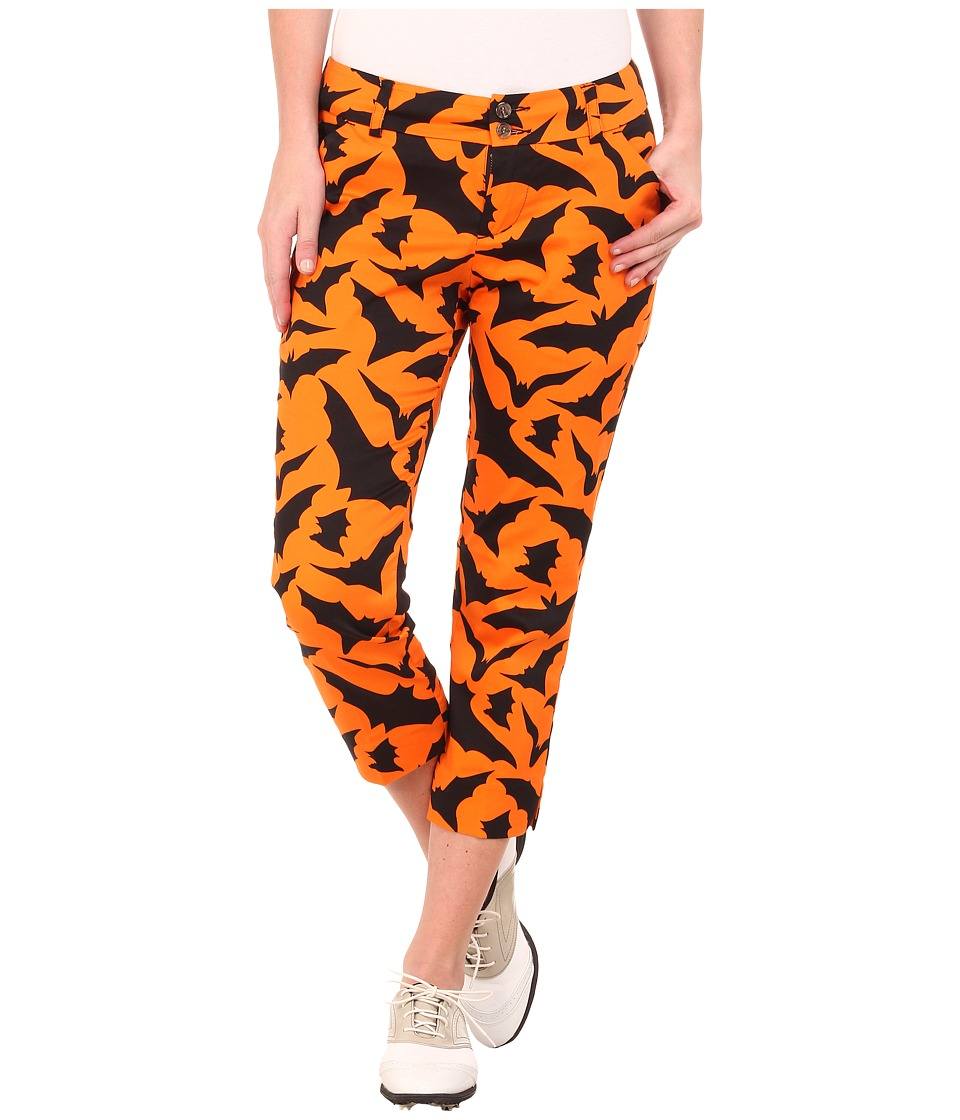 Loudmouth Golf - Blind Azza Capris (Burnt Orange) Women's Capri