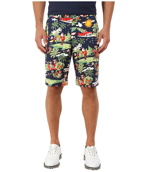 Loudmouth Golf - Golfin Santa Shorts (Navy) Men's Shorts