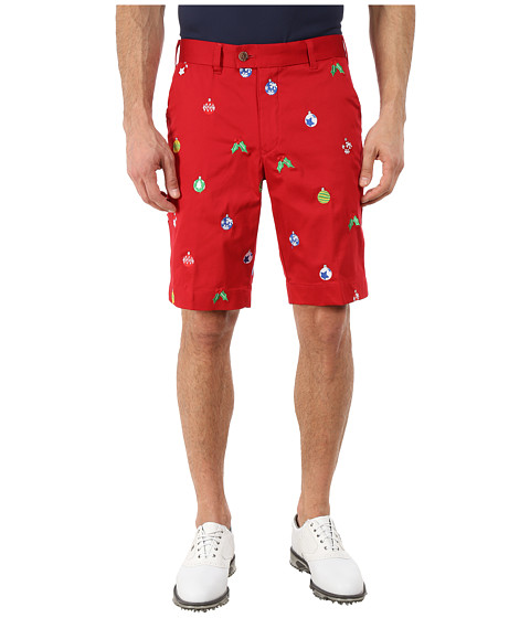 Loudmouth Golf - Deck the Halls Shorts (Christmas Red) Men's Shorts