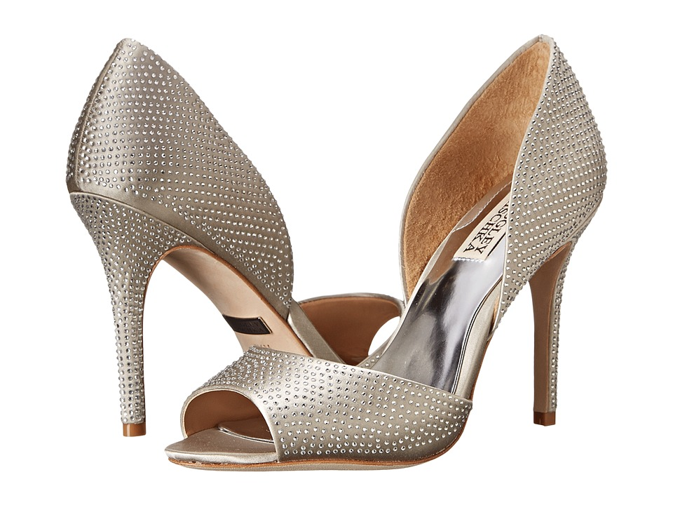 Badgley Mischka - Mitzi (Silver Satin) High Heels