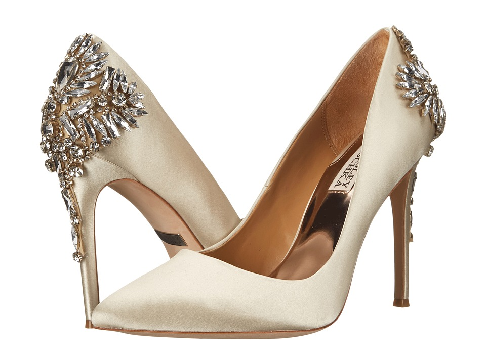 Badgley Mischka - Poetry II (Ivory Satin) High Heels