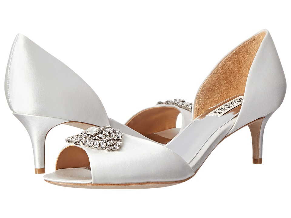 Badgley Mischka - Petrina (White Satin) High Heels
