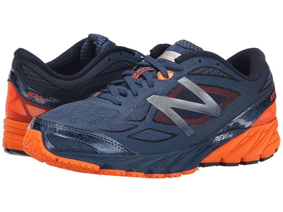 New Balance - 870v4 (Grey/Orange) Men's Running Shoes