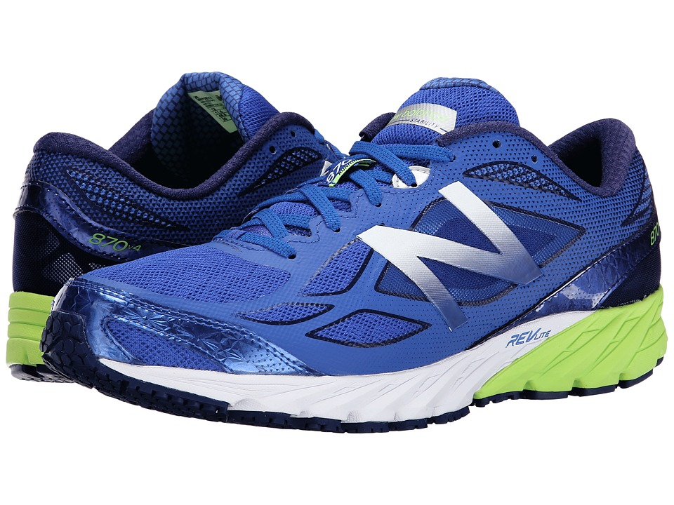 New Balance - 870v4 (Blue/Yellow) Men's Running Shoes