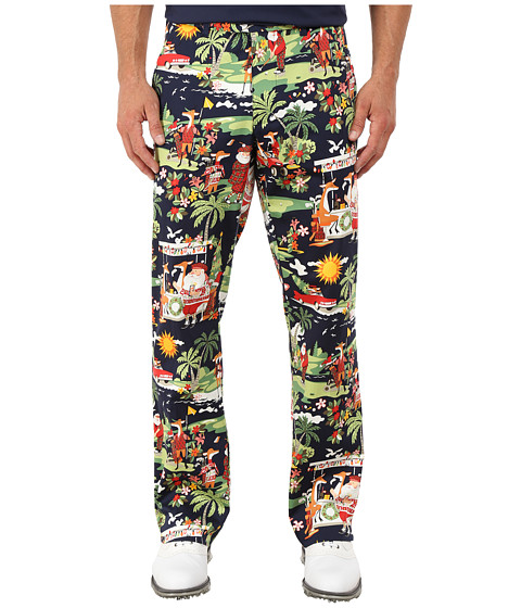 Loudmouth Golf - Golfin Santa Pants (Navy) Men's Casual Pants