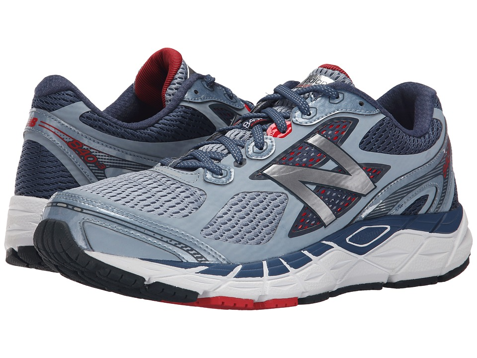 New Balance - 840v3 (Grey/Red) Men's Running Shoes