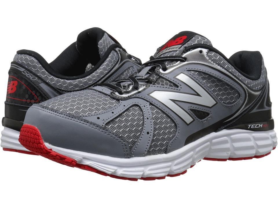 New Balance - 560v6 (Grey/Black/Red) Men's Running Shoes