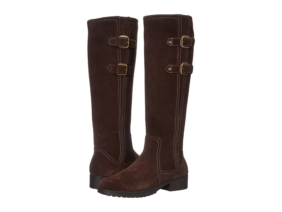 Aerosoles - Love Note (Dark Brown Suede) Women's Zip Boots