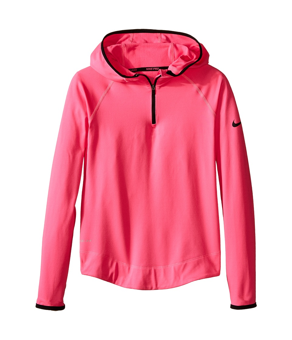 Nike Kids - Pro Hyperwarm 3.0 Half Zip (Little Kids/Big Kids) (Pink Pow/Black/Black) Girl