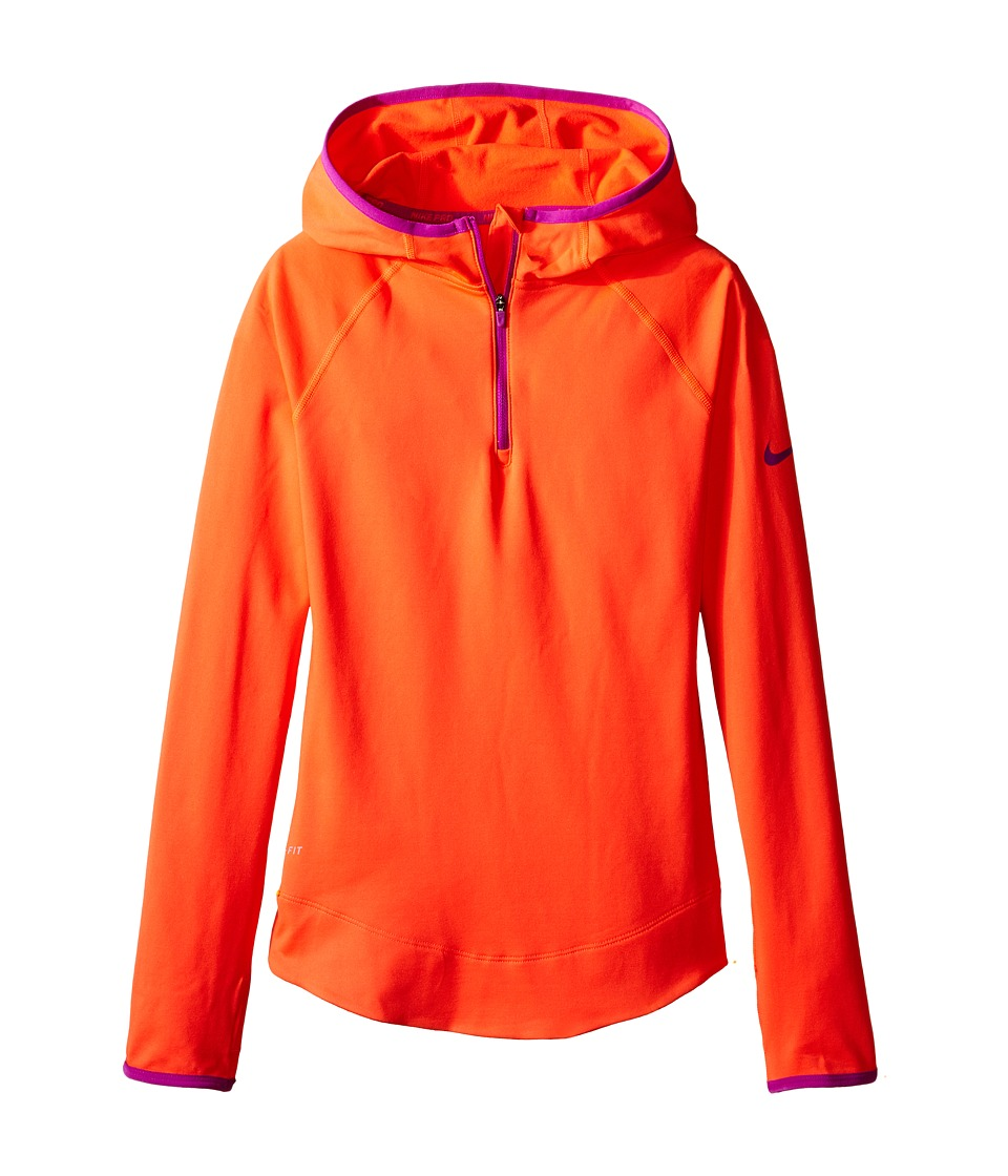 Nike Kids - Pro Hyperwarm 3.0 Half Zip (Little Kids/Big Kids) (Bright Crimson/Vivid Purple/Vivid Purple) Girl's Jacket
