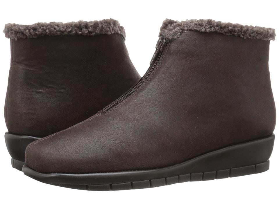 Aerosoles - Nonchalant (Brown Fabric) Women's Zip Boots